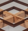 Gibson Center Table with Glass Top in Walnut Finish by Durian