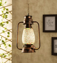 Glass Multicolour Hanging Light - 1705554