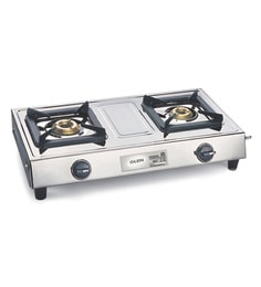 8ef2425f3 Glen 2 Brass Burners Manual Stainless steel Gas Stove (Model No  CT1021SS)