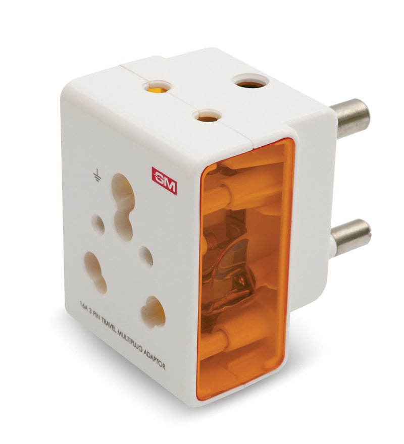 Buy Gm 16 Amp 3 Pin Travel Adaptors Set Of 2 Online Multiplug And Travel Adaptors Multiplug
