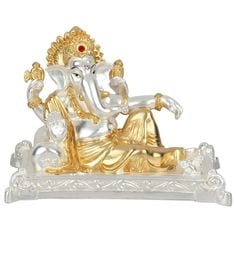Gold And Silver Polystone Ganesh Ganpati Diwali Corporate Wedding Decor Gift Pack