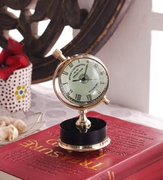 Gold Brass & Acrylic Table Clock
