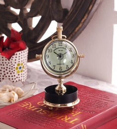Gold Brass And Acrylic Table Clock - 1727618