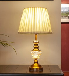 Gold Glass & Mild Steel Drita Table Lamp