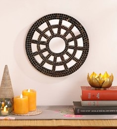 Gold MDF & Glass Decorative Mosaic Mirror