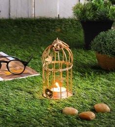Gold Wrought Iron Tea Light Holder - 1693529