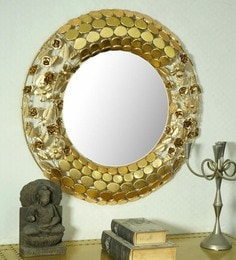 Golden Glass And Metal Arizone Wall Mirror