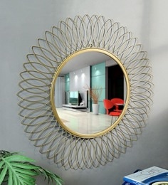 Golden Glass And Metal Foster Wall Mirror