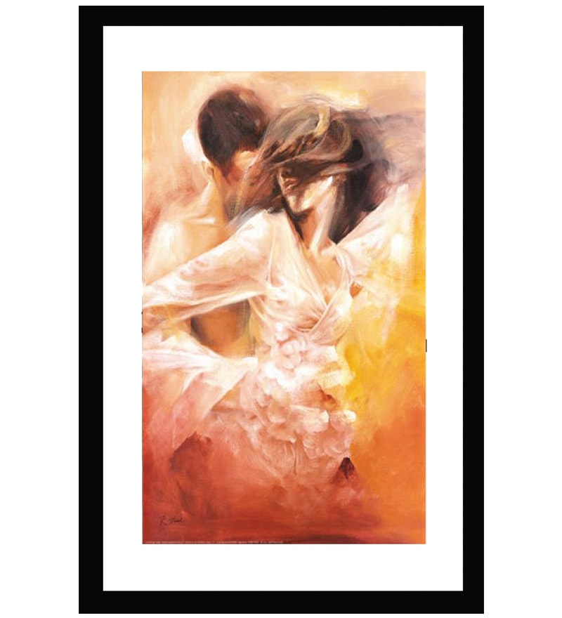 MDF 14 x 20 Inch Passionate Dance Framed Art Print by Go Hooked