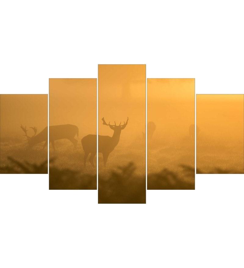 MDF Deer Framed Art Panel - Set of 5 by Go Hooked