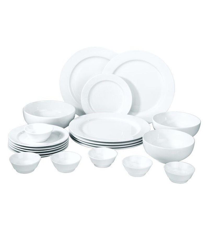 Bone China Dinner Set - Set of 21 by Godskitchen