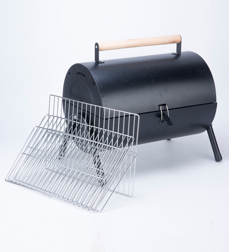 Godskitchen Round Top Portable Coal Barbeque