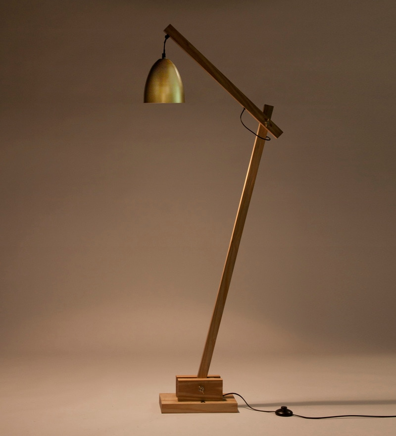 Gold Iron Derry Floor Lamp by Orange Tree
