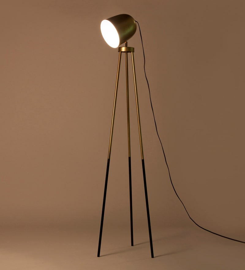 Gold Iron Rhea Floor Lamp by Orange Tree