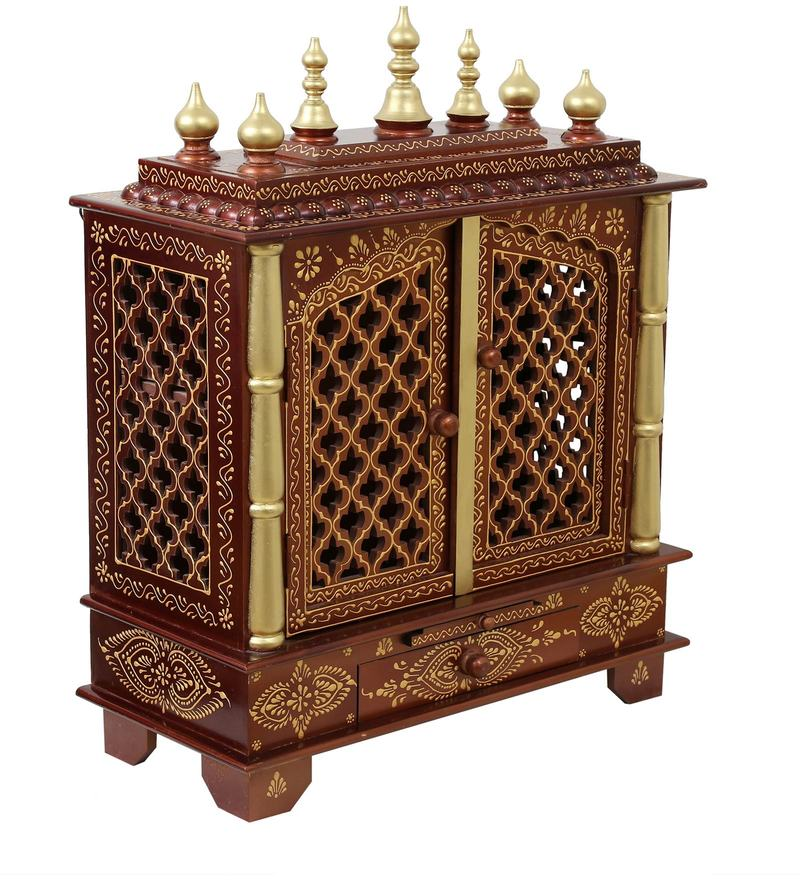 38439028399 Buy Brown   Gold Mdf   Mango Wood Handcrafted Home Temple By ...