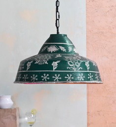 Hanging lights buy hanging lights online in india at best prices green and white ecomix hanging light aloadofball Image collections