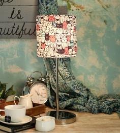 Green Girgit Multicolour Cotton Table Lamp - 1605094