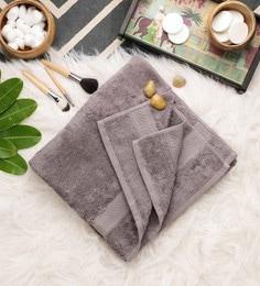 Grey Cotton 30 X 58 Inch Bath Towel - 1649078