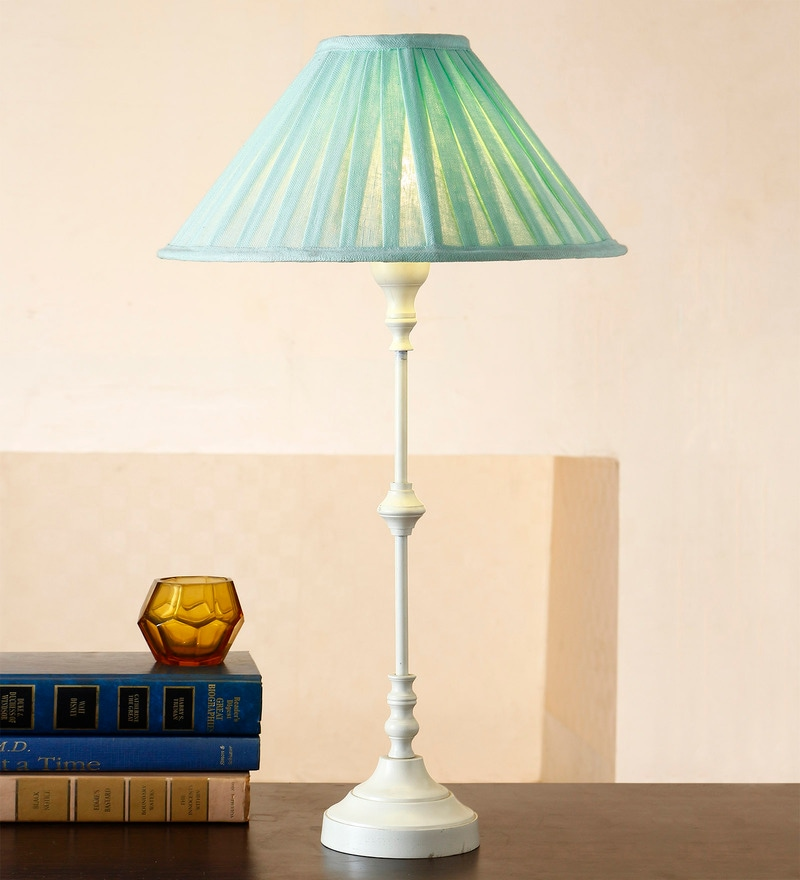 Green Cotton Table Lamp by Anasa