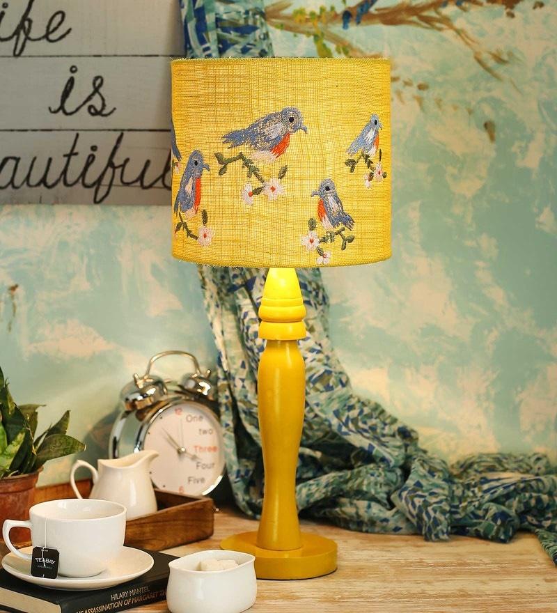 Multicolour Jute Table Lamp by Green Girgit