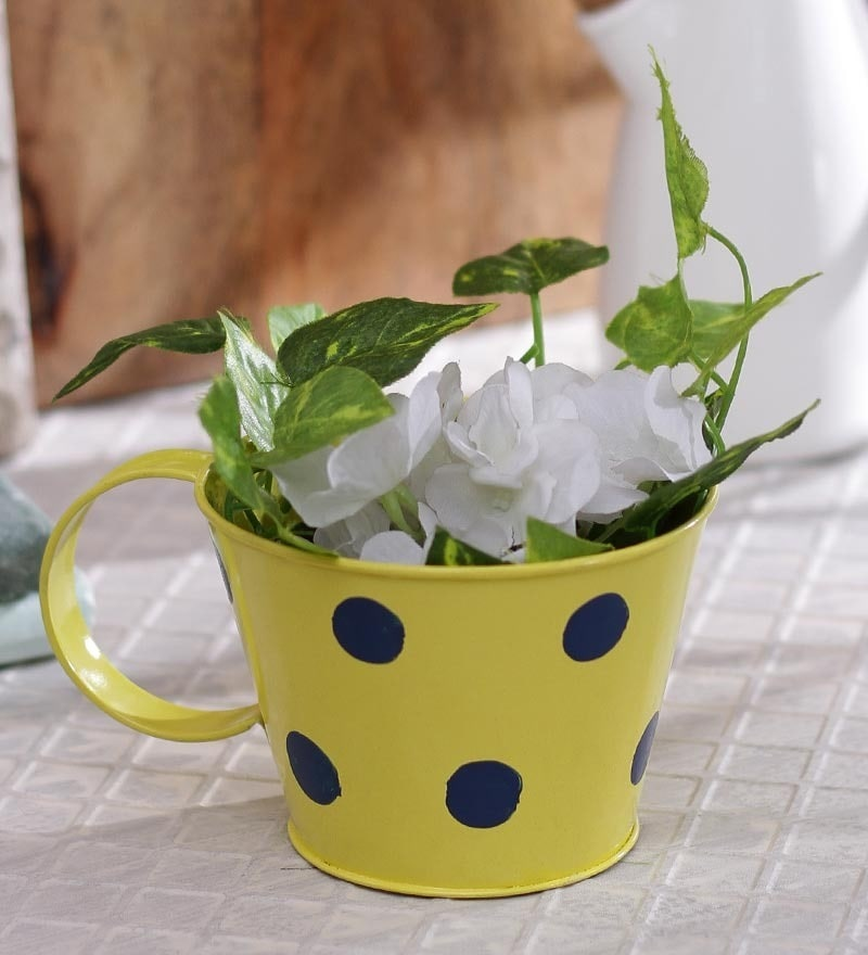 Yellow Polka Dots Cup by Green Girgit