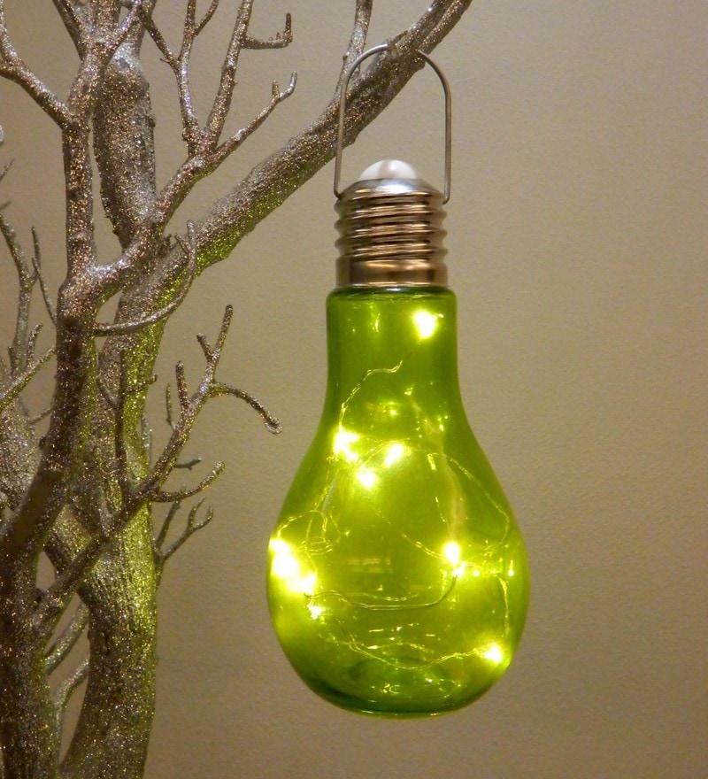 Green Glass Led Festive Light by Tu casa