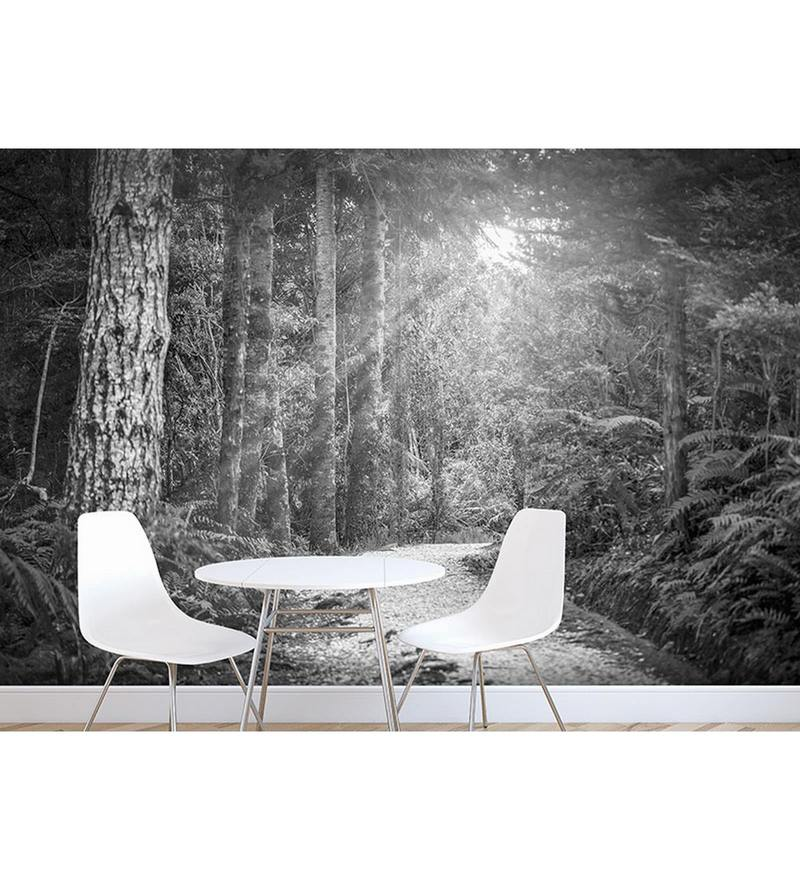 Grey Non Woven Paper The Mountain Sunshine Wallpaper by Wallskin