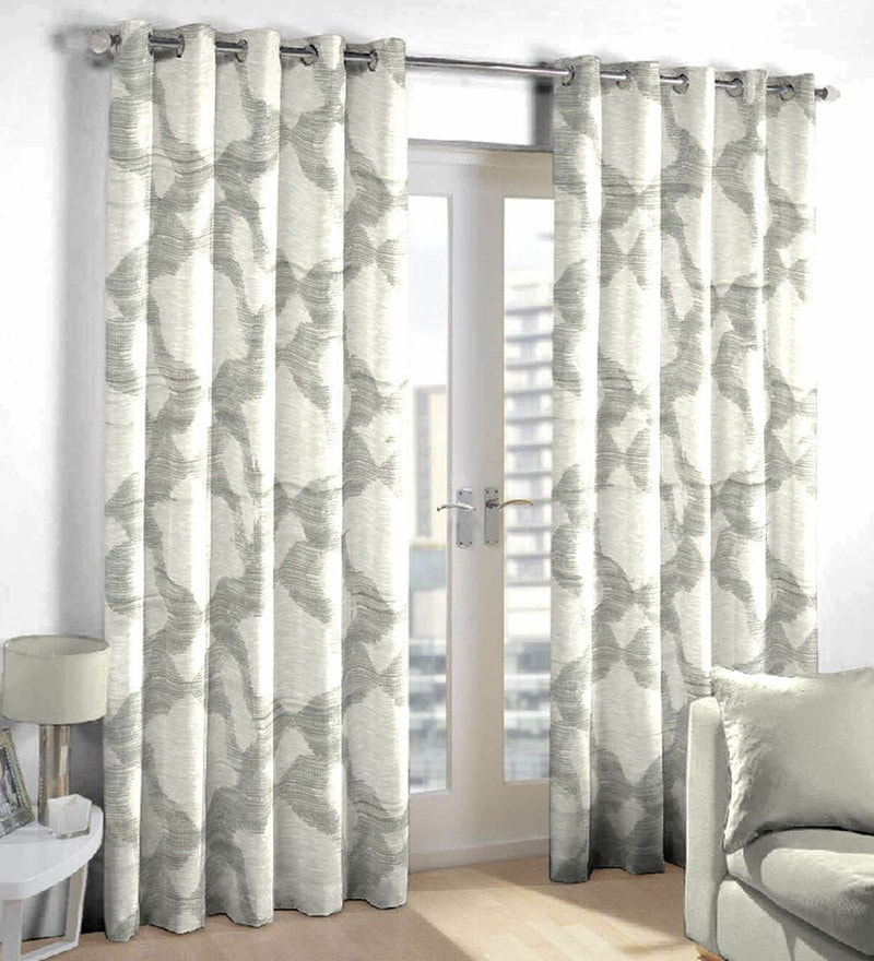 grey Poly Cotton Door Curtain by Skipper