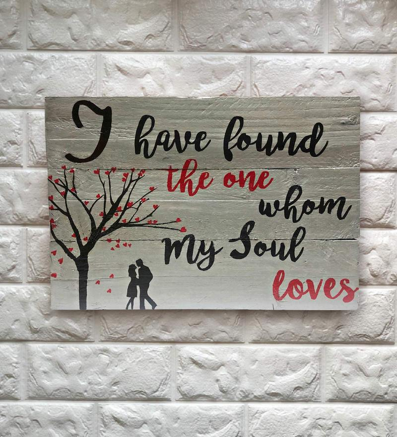 Buy Brown Wood Wall Art Inspirational Quote By Lakkad Studios Online
