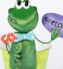 Small Frog Welcome Planter by Green Girgit