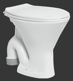 H & R Johnson Ruby-Ewc-Sf White Ceramic Water Closet With Seat Cover And Flush Tank
