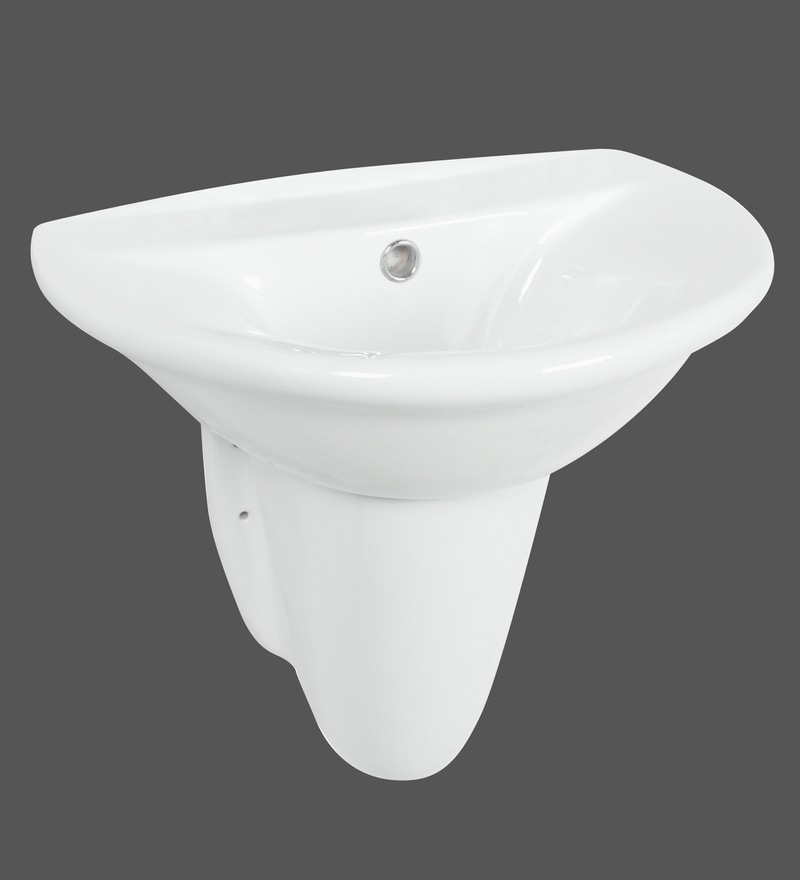 H & R Johnson Polaris White Ceramic Wash Basin