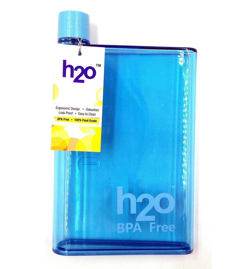 H2O Flat Blue Plastic 450 ML Bottle