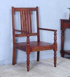 Harleston Arm Chair In Honey Oak Finish