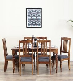 Harleston Six Seater Dining Set In Provincial Teak Finish