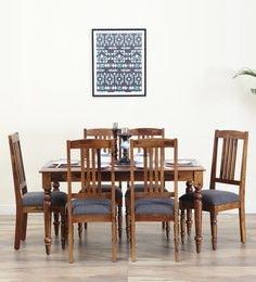 Harleston Six Seater Dining Set In Provincial Teak Finish