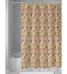 Beige Nylon 84 X 48 Inch Shower Curtain
