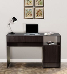 Hayao Study Table With Cabinet In Wenge Finish ...