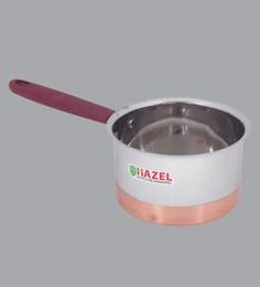 Hazel Alfa Premium Heavy Gauge Stainless Steel Flat Patila Sauce Pan With Copper Bottom ,1500 Ml