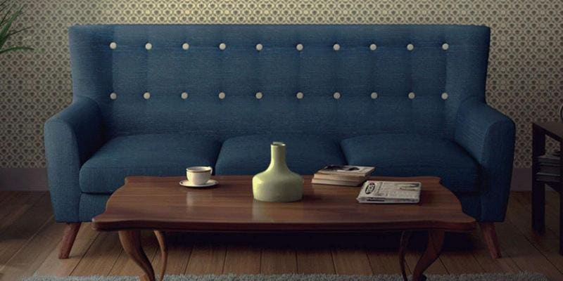 Havana Three Seater Sofa in Oxford Blue Colour by CasaCraft