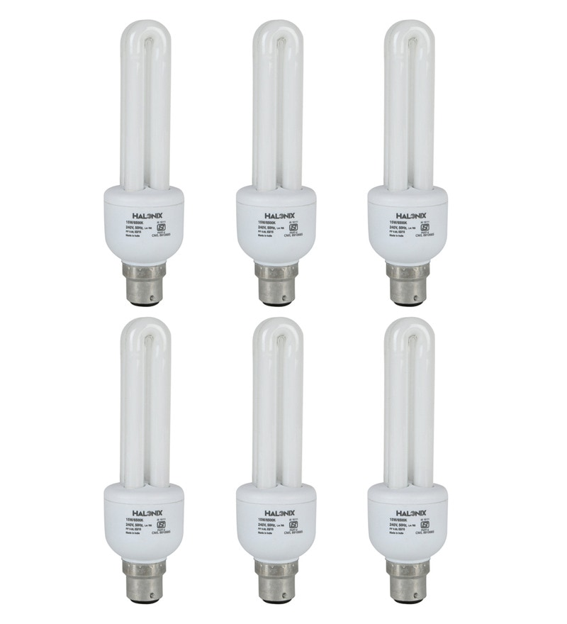 Halonix Large White 15 W CFL Light - Set of 6