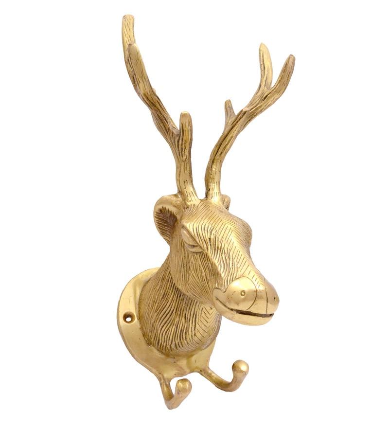 Antique Yellow Deer Design Key Holder by Handecor