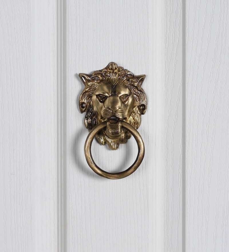 Handecor Brass Lion Mouth Door Knocker