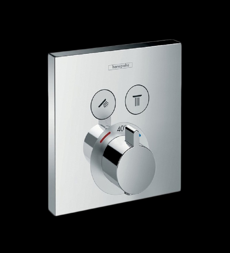 Hansgrohe Series Select Chrome Brass Thermostatic Mixer for Concealed Installation