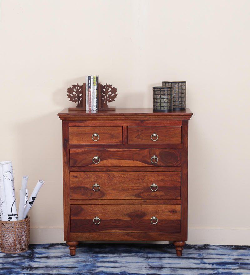 Harleston Chest Of Drawer in Honey Oak Finish by Amberville