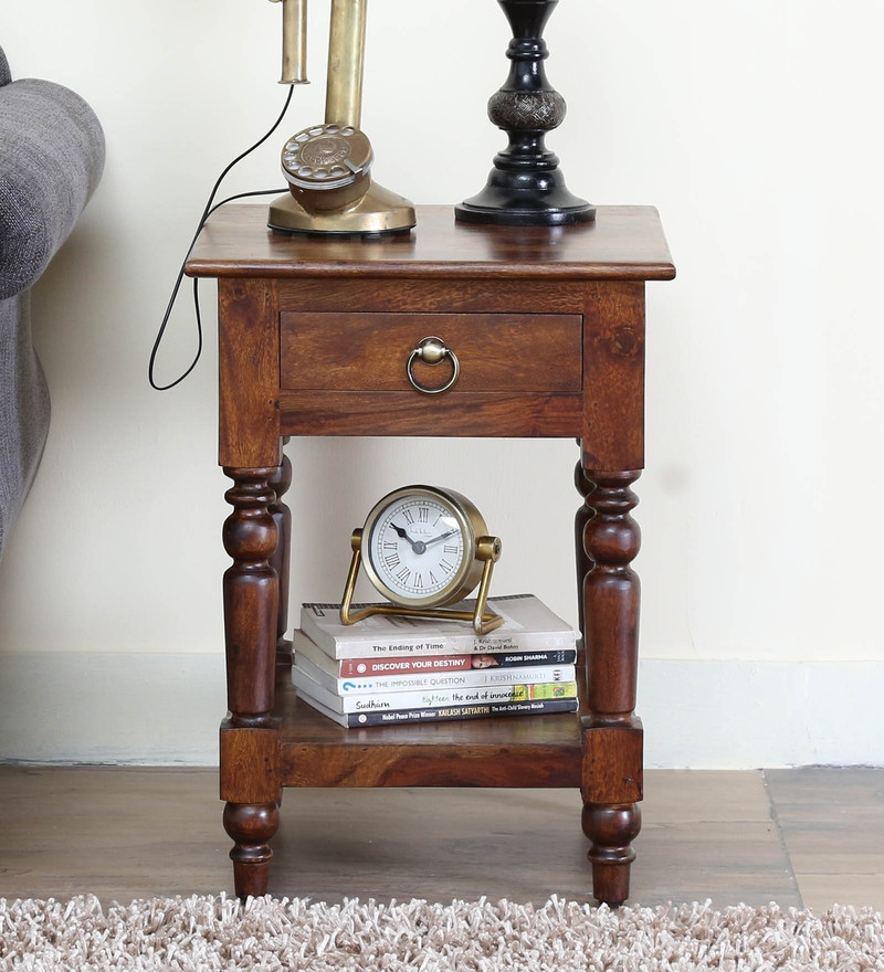 Harleston End Table in Provincial Teak Finish by Amberville