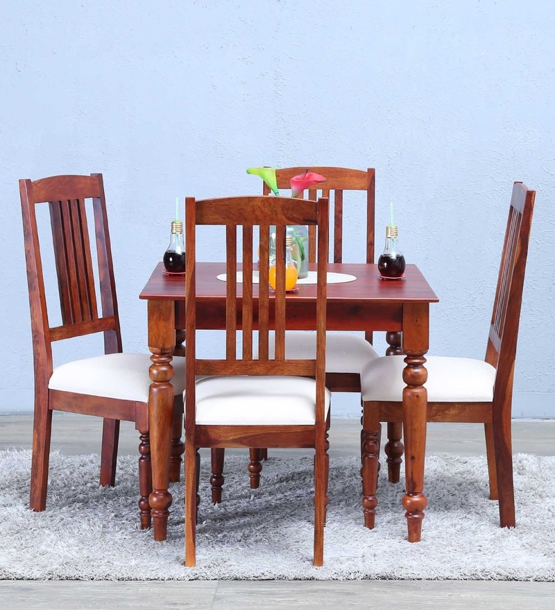 Buy Granville Four Seater Dining Table Set in Honey Oak Finish by ...