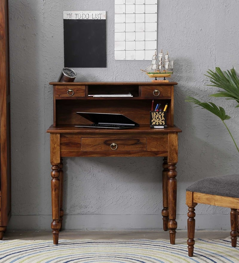 Harleston Study Table in Provincial Teak Finish by Amberville
