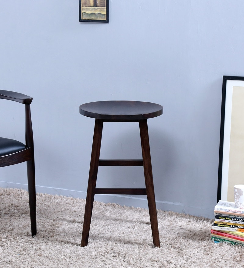 Harrington Medium Bar Stool in Warm Chestnut Finish by Woodsworth
