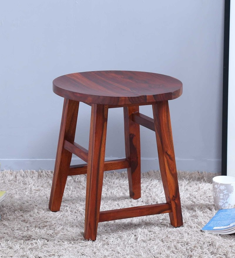 Harrington Stool in Honey Oak Finish by Woodsworth